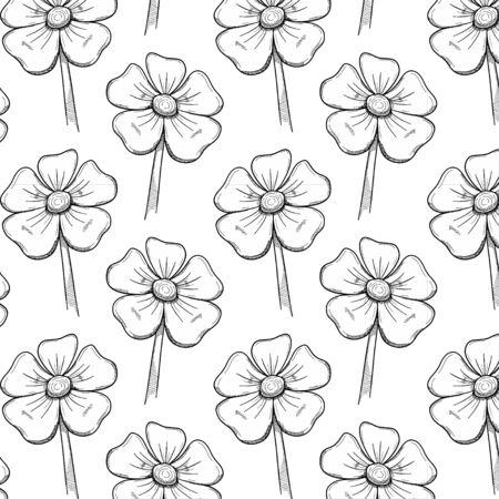 Flower doodle pattern vector Ilustração