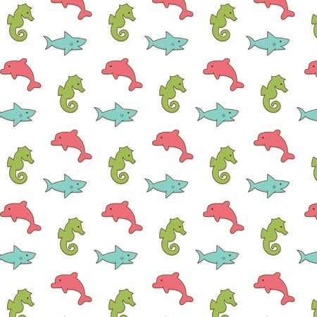 Cute small fish pattern