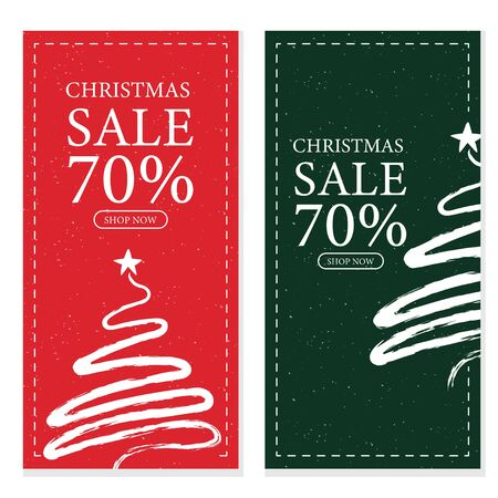 Cute christmas sale banner template Vettoriali