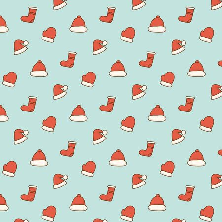 Cute doodle christmas element pattern