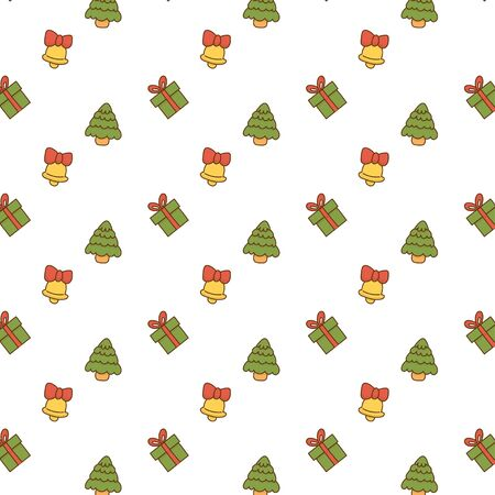 Cute christmas element pattern