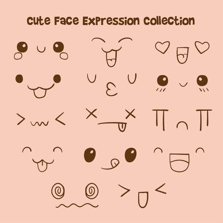 Cute face expression collection