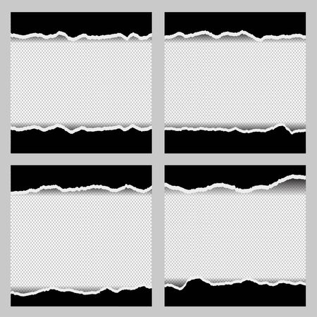 Torn paper vector set collection