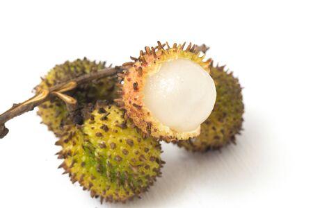 Rambutan Fruit ( Nephelium lappaceum ) - Rambutan fruit is a fruit similar to lychee. Rambutan fruit isolated on white background