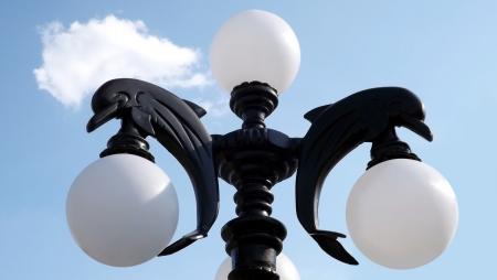lamp post: Dolphin Lamp Post Photo