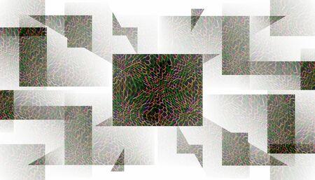 奇妙な錯覚の壁紙  イラスト・ベクター素材