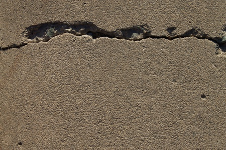 earthquake crack: Crack in concrete background texture