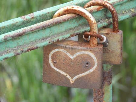 Locks represent as Valentines Day concept