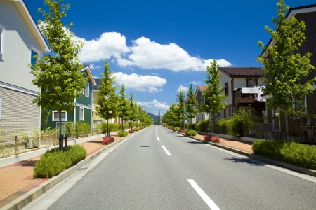 residential area: residential area and way