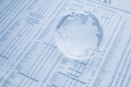 transparence: terrestrial globe and economy Stock Photo