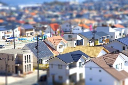 Moderne Anordnung der Häuser Standard-Bild - 23254734