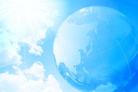 terrestrial globe: terrestrial globe and sky