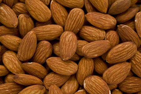 plural number: almond nuts Stock Photo
