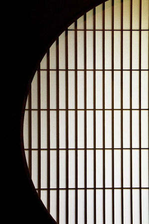 window shade: Japan round window