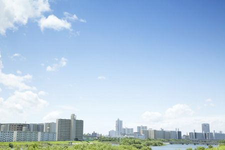 japan sky: Cityscape Stock Photo