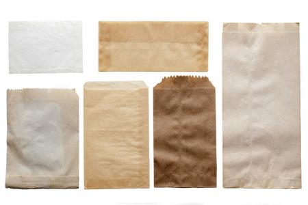 Papieren zak textuur achtergrond