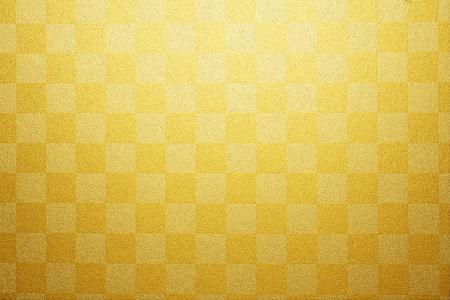 Gold plaid paper 写真素材