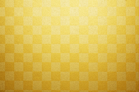 Gold plaid paper Stock Photo