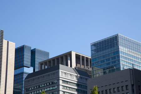 Skyscraper of business and financial district