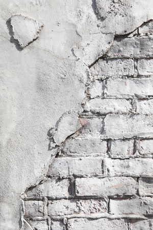 Brick and concrete wall texture background Banque d'images