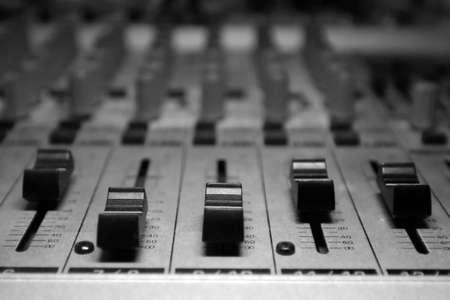 recording studiomixer Stock fotó