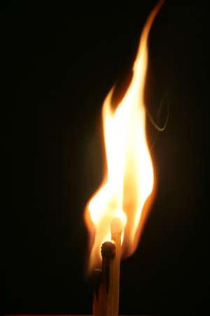 Three matches just ignited