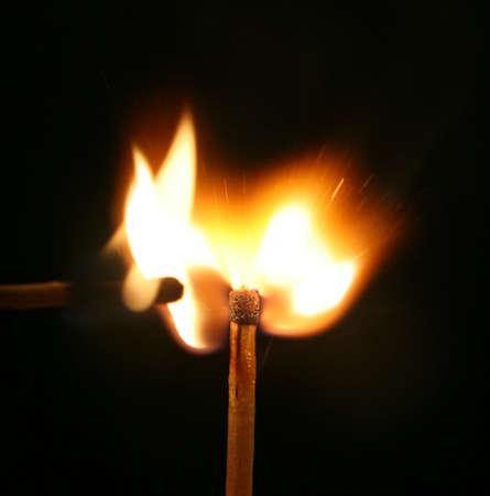 Match just ignited