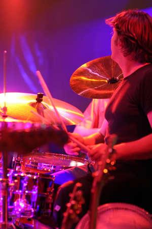 Drummer in action