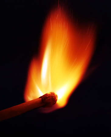 match just ignited Stock Photo - 502277