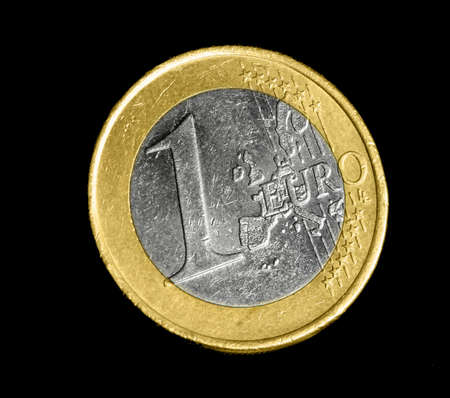 coppers: One euro coin Stock Photo
