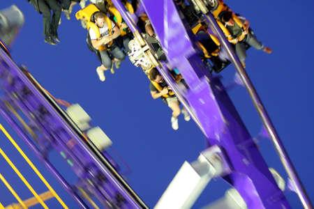 Rollercoaster ride blur