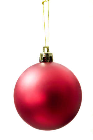 diffuse: Red diffuse shining christmas ball