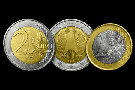 coppers: Euro coins Stock Photo