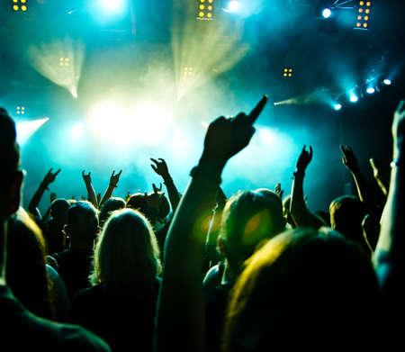 concerto rock: Multitud de concierto Foto de archivo