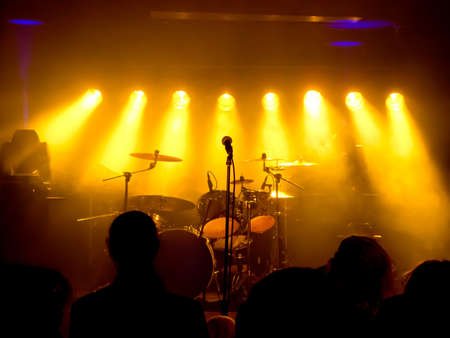 Music Instruments, DrumsGuitar on stage