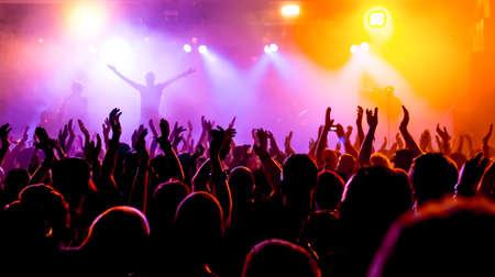 Tifo folla ad un concerto rock Archivio Fotografico - 70834498