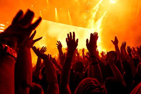 Foule de concert au concert de rock