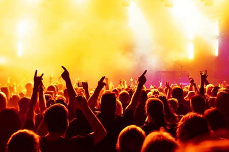 Foule de concert au concert de rock Banque d'images