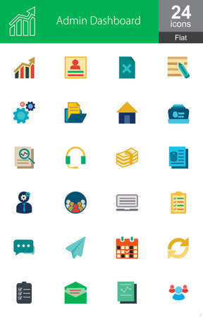 dashboard: Admin Dashboard vector image to be used in web applications, mobile applications and print media.