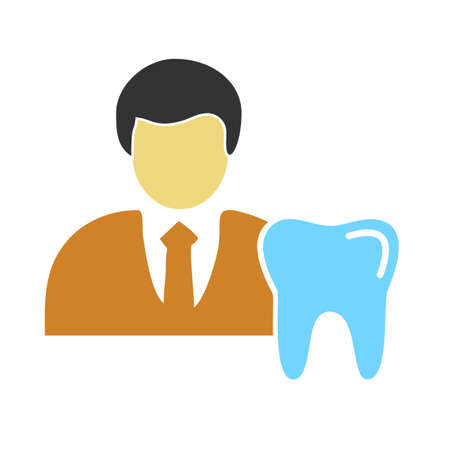 Dentist vector image to be used in web applications, mobile applications and print media.