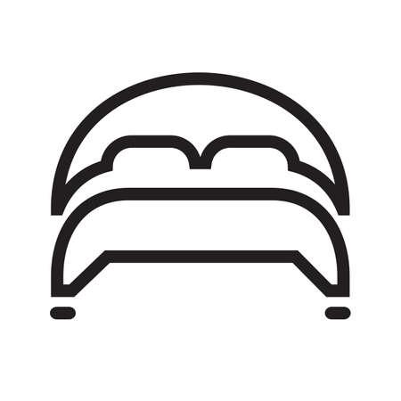 Web アプリケーション、モバイル アプリケーションおよび印刷媒体で使用されるベッド ベクトル画像。  イラスト・ベクター素材