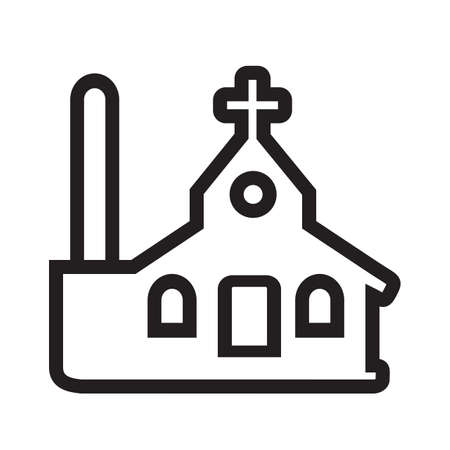Church vector image to be used in web applications, mobile applications and print media. Иллюстрация