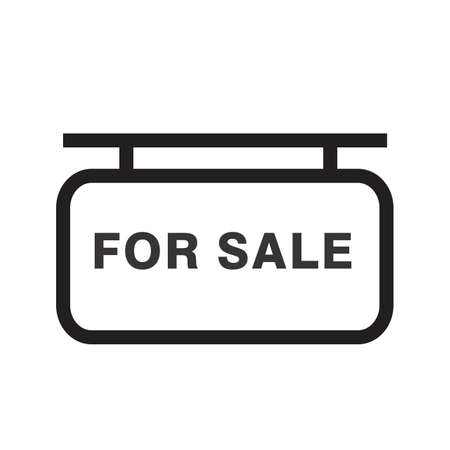 For Sale sign vector image to be used in web applications, mobile applications and print media.