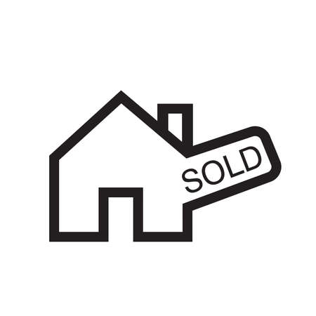 Sold house sign vector image to be used in web applications, mobile applications and print media.