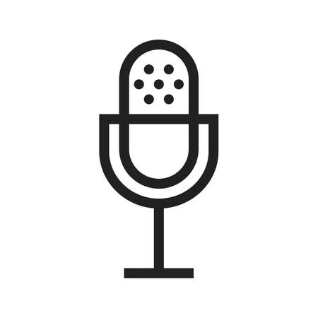 Mic vector image to be used in web applications, mobile applications and print media. Çizim