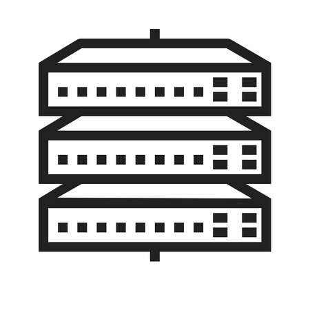 ethernet cable: Network Switch vector image to be used in web applications, mobile applications and print media. Illustration