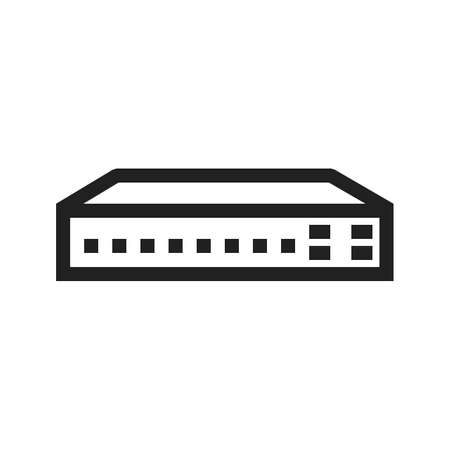 hub computer: Networking Switch vector image to be used in web applications, mobile applications and print media.