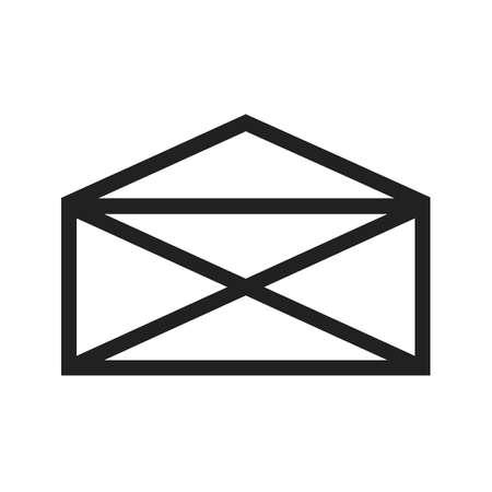 웹 응용 프로그램, 모바일 응용 프로그램 및 인쇄 매체에서 사용할 메일 벡터 이미지. 일러스트