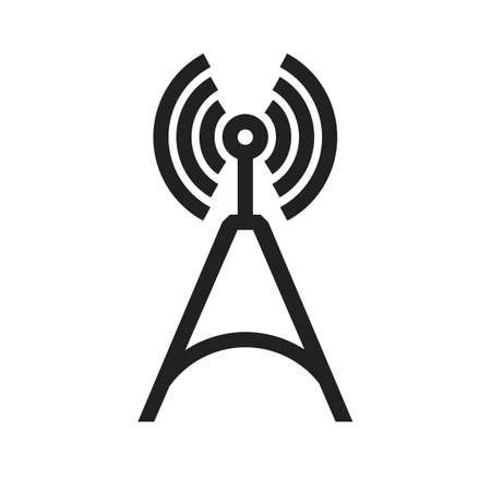 Telecom Tower vector image to be used in web applications, mobile applications and print media.