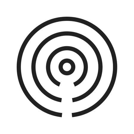 아이 비콘 벡터 이미지는 웹 애플리케이션, 모바일 애플리케이션 및 인쇄 매체에 사용되는. 일러스트